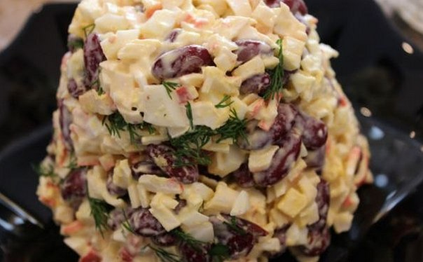 Салат на быструю руку рецепты с фасолью